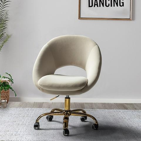 Savas Height Adjustable Swivel Task Chair with Gold Base