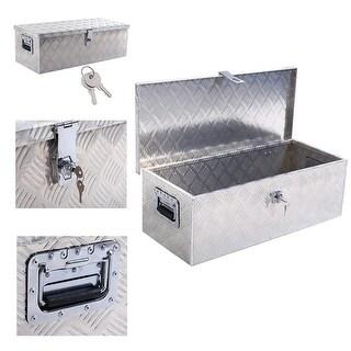 """ARKSEN 30"""" Aluminum Toolboxes Tote Underbody Pickup Storage Tool Box, Lock w/ Keys"""