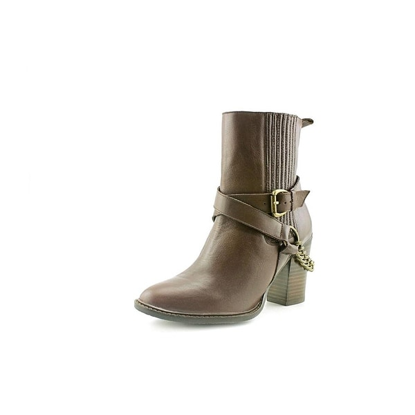 A.B.S. by Allen Schwartz Womens Desiree Leather Closed Toe Ankle Fashion Boots - 7.5
