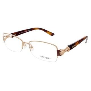 Valentino V2106 003 Rose Gold/Havana Rectangular Valentino Eyewear