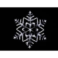 "18"" LED Lighted Snowflake Christmas Window Silhouette Decoration - WHITE"