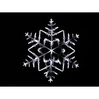 "18"" LED Lighted Snowflake Double Sided Christmas Window Silhouette Decoration"