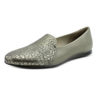 Ecco Touch Ballerina 2.0 Women Round Toe Leather Gray Ballet Flats