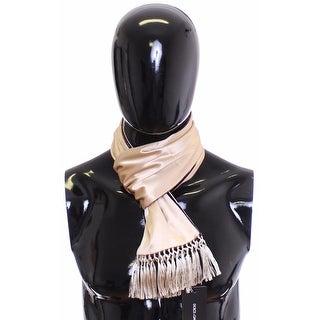 Dolce & Gabbana Scarf Men's Beige Silk - One size
