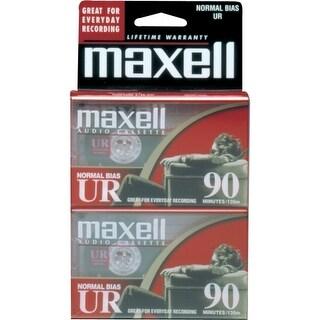 Maxell 108527-FLATPAK Maxell UR Type I Audio Cassette - 2 x 90Minute - Normal Bias