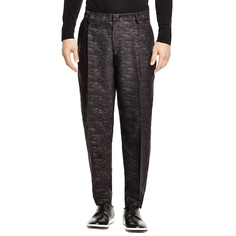 McQ Alexander McQueen Mens Camouflage Pleated Pants 32 Charcoal