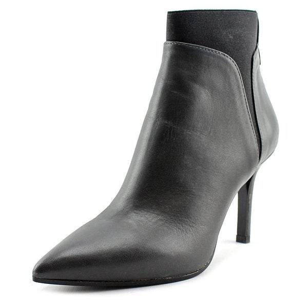 Bianca Di 681 Women Pointed Toe Leather Black Ankle Boot