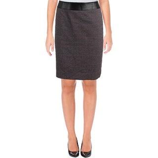 Tahari ASL Womens Petites Straight Skirt Mini Checkered Knee-Length - 12P