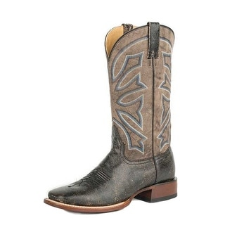 Stetson Western Boots Mens Leather Accents Black 12-020-8839-0386 BL