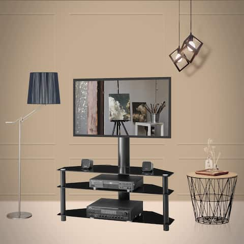 Black Multi-function Angle and Height Adjustable TV Stand