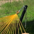 Sunnydaze Thick Cord Woven Single Person Mayan Hammock with Curved Spreader Bars - Thumbnail 3