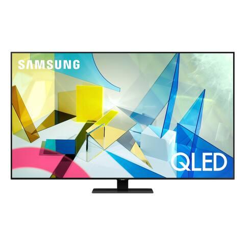 """Samsung QN49Q80TA 49"""" QLED 4K UHD Smart TV - Steel"""