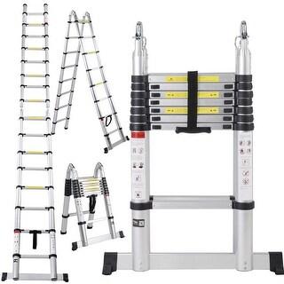 Costway EN131 16.5FT Aluminum Telescoping Telescopic Extension Ladder Tall Multi Purpose