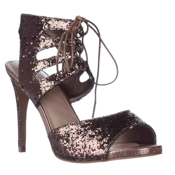 TS35 Rhumba Sparkle Dress Sandals, Bronze
