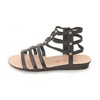 Paul Green Womens ARLENE Leather Open Toe Casual Platform Sandals - Black leather - 7