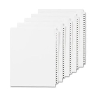 Numeric Divider, 70, Side Tab, 11 in. x 8.5 in.,
