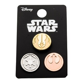 Star Wars Pin Pack: Rebel Alliance, Jedi Order, and Galactic Empire Solid - multi