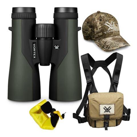Vortex 12x50 Crossfire HD Roof Prism Binoculars w/Floating Strap & Vortex Hat