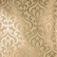 Brewster 2542-20753 Venus Brass Foil Mini Damask Wallpaper - N/A