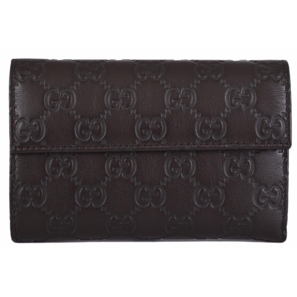 619fac4a7f8 Shop Gucci 346057 Brown Leather GG Guccissima French Wallet W Coin Pocket -  Free Shipping Today - Overstock - 12146609