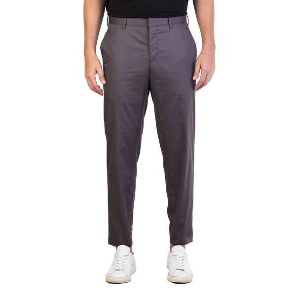 gris en pitillo Compre 19398908 hoy de gratis pantalones 30 de los Prada Envío Gabardine pantalón Zqazwpx8q