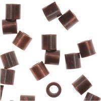Genuine Antiqued Copper Crimp Beads 2 x 2mm (50)