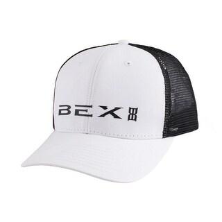 Bex Hat Adult Trucker Adjustable Laser Etch Mesh Back White WHIOG