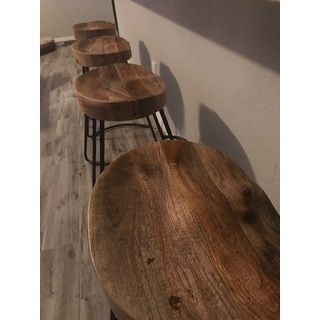 Shop The Urban Port Brand Attractive Wooden Barstool With