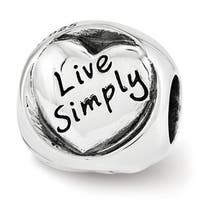 Sterling Silver Reflections Live Simply Trilogy Bead (4mm Diameter Hole)