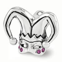 Sterling Silver Reflections Swarovski Elements Jester Mask Bead (4mm Diameter Hole)
