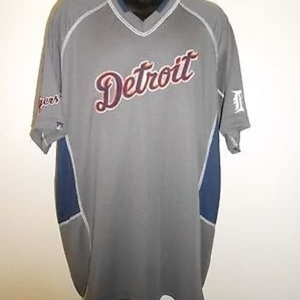 detailed pictures e2c5f 2a109 Detroit Tigers Mens L Large By Majestic Jersey 62Lz