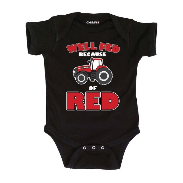 Well Fed Because Of Red Infant One Piece