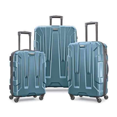 Samsonite Centric 3 Piece Expandable Hardside Spinner Luggage Set, Teal