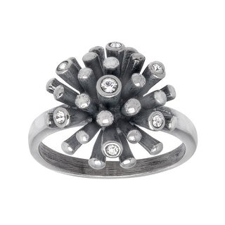 Van Kempen Art Deco Starburst Ring with Swarovski Crystals