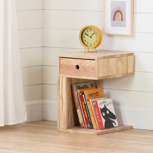 South Shore Sweedi Solid Wood 1-Drawer Nightstand. Opens flyout.