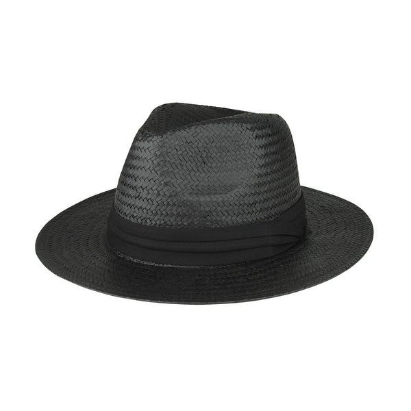 Shop Toyo Paper Straw Fedora Hat - Free Shipping On Orders Over  45 -  Overstock.com - 16947395 1546f93a13d