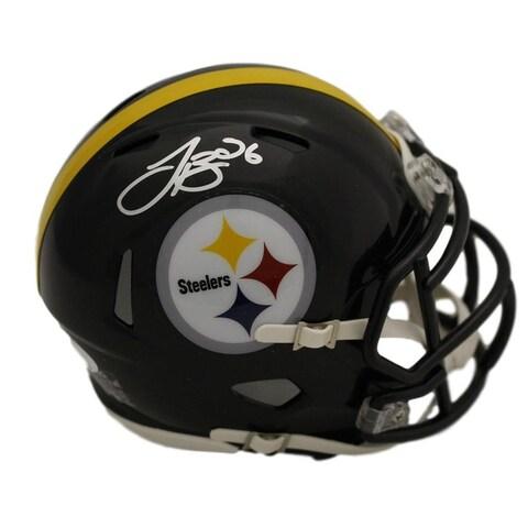 Leveon Bell Autographed Pittsburgh Steelers Speed Mini Helmet JSA