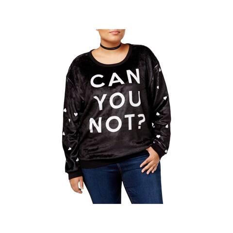 Hybrid Womens Plus Can You Not? Sweatshirt Slogan Long Sleeve