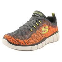 Skechers Equalizer 2.0 Perfect Game  Charcoal/Orange Athletic Shoes