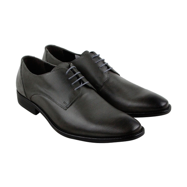 Kenneth Cole New York Measure Up Mens Gray Casual Dress Oxfords Shoes