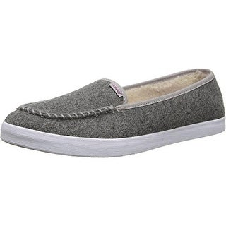 Reef Womens Salty Island Fur Moc Toe Slip On Casual Shoes - 8 medium (b,m)