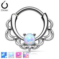 Lacey Single Opal Septum Clicker (Sold Ind.)