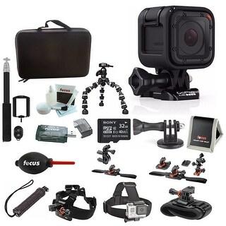 GoPro HERO4 Session, Action Camera Tripod Adapter, Vivitar VIV-TR-420-BLK Selfie with Wireless Shutter Release (Black) Bundle