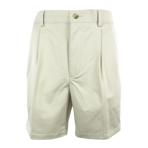 Roundtree & Yorke Big&Tall Men's Classic Fit Pleated Shorts
