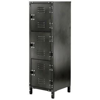 Allspace 3 Door Locker With Dark Weathered Finish SCRATCH & DENT DEAL- 240127