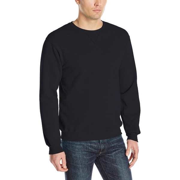 a92c5371ac1061 Shop Fruit Of The Loom Black Mens Size 2XL Pullover Crewneck Sweater - Free  Shipping On Orders Over $45 - Overstock - 27895242
