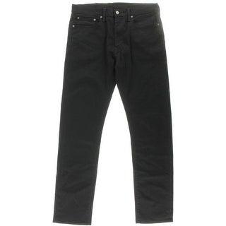 Levi Strauss & Co. Mens Denim Solid Straight Leg Jeans - 34/34