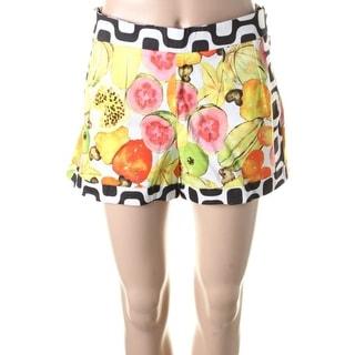 Isolda Womens Poplin Cuffed Casual Shorts - 10