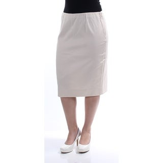 CHARTER CLUB $59 Womens New 1051 Ivory Below The Knee Pencil Skirt 6 B+B
