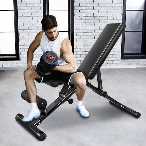 Adjustable Folding Weight Bench Strength Training Bench for Full Body Workout
